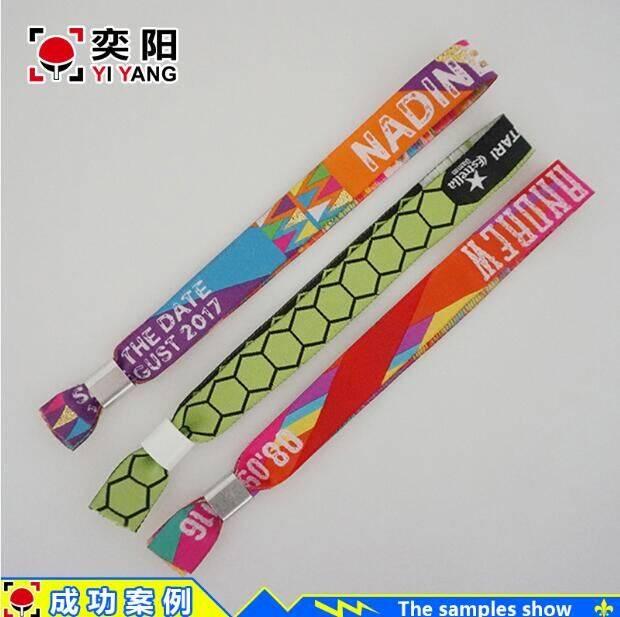 Fabric woven wristband