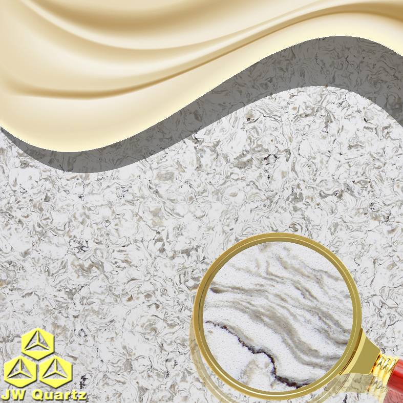JW-6870 Eiger-Graceful White Quartz Stone Slab