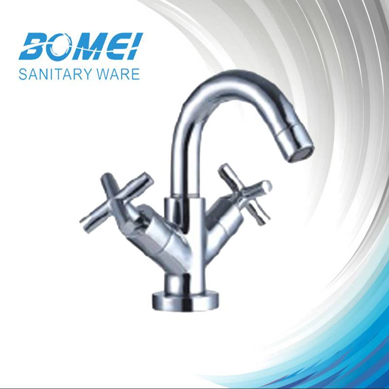 Fashion Basin Faucet: Brass Body; Zinc Handle; Full Open * (BM57203)