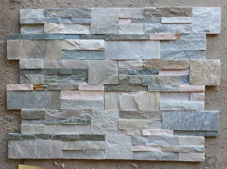 Slate flat grey cultured stone for wall cladding decoration