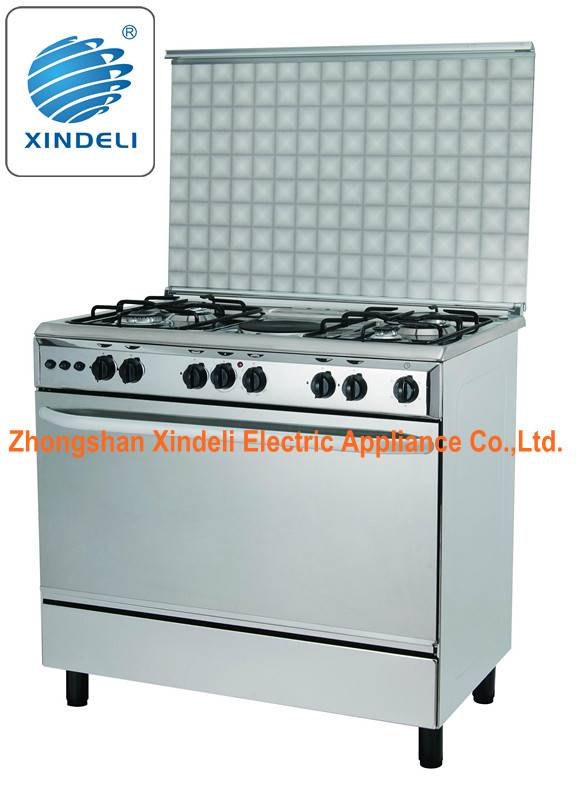 High level freestanding stove and oven