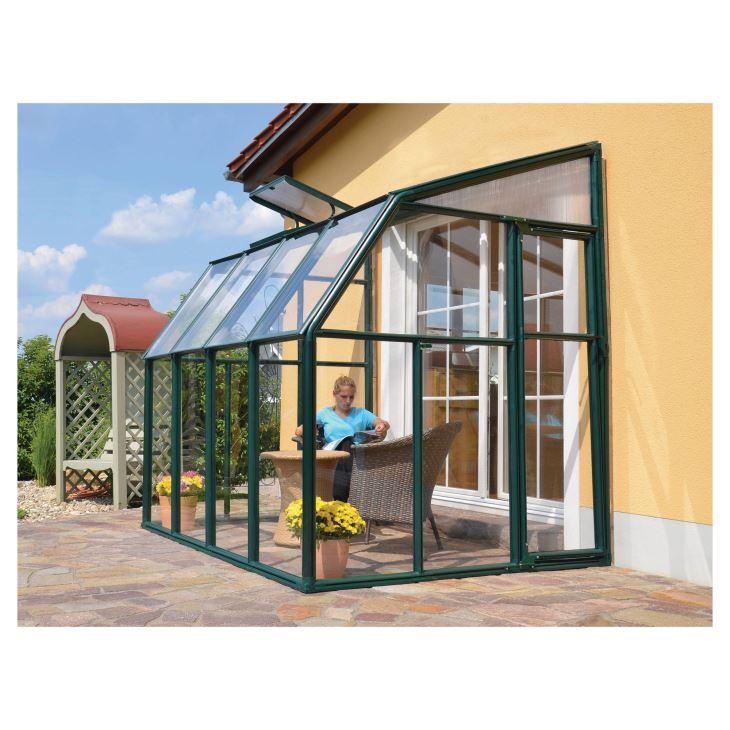 Outdoor Garden Aluminium Glass Sun Room Winter Garden Green Glass House