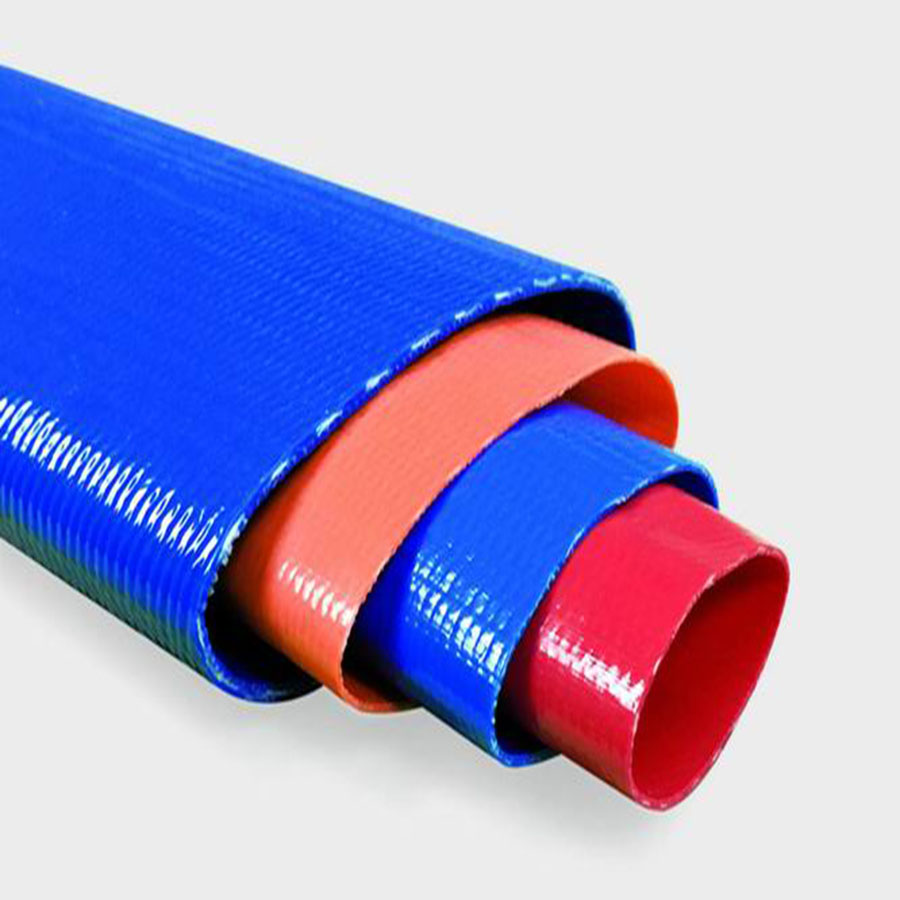 """PVC water irrigation discharge hose 1"""" to 12"""""""