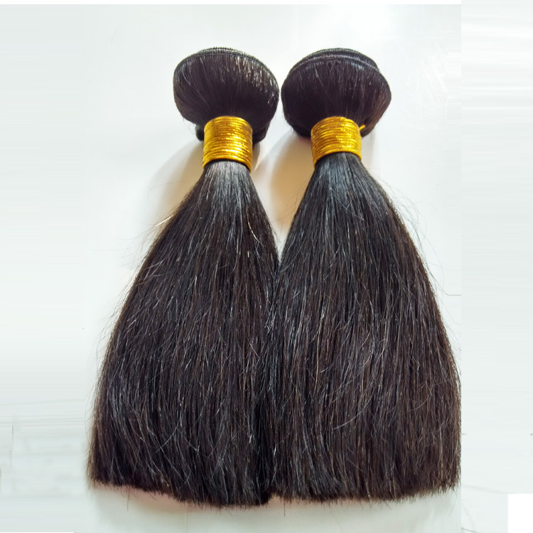 Brazilian hair Remy hair Natural black Straight Double weft 100g 8inch afro hair