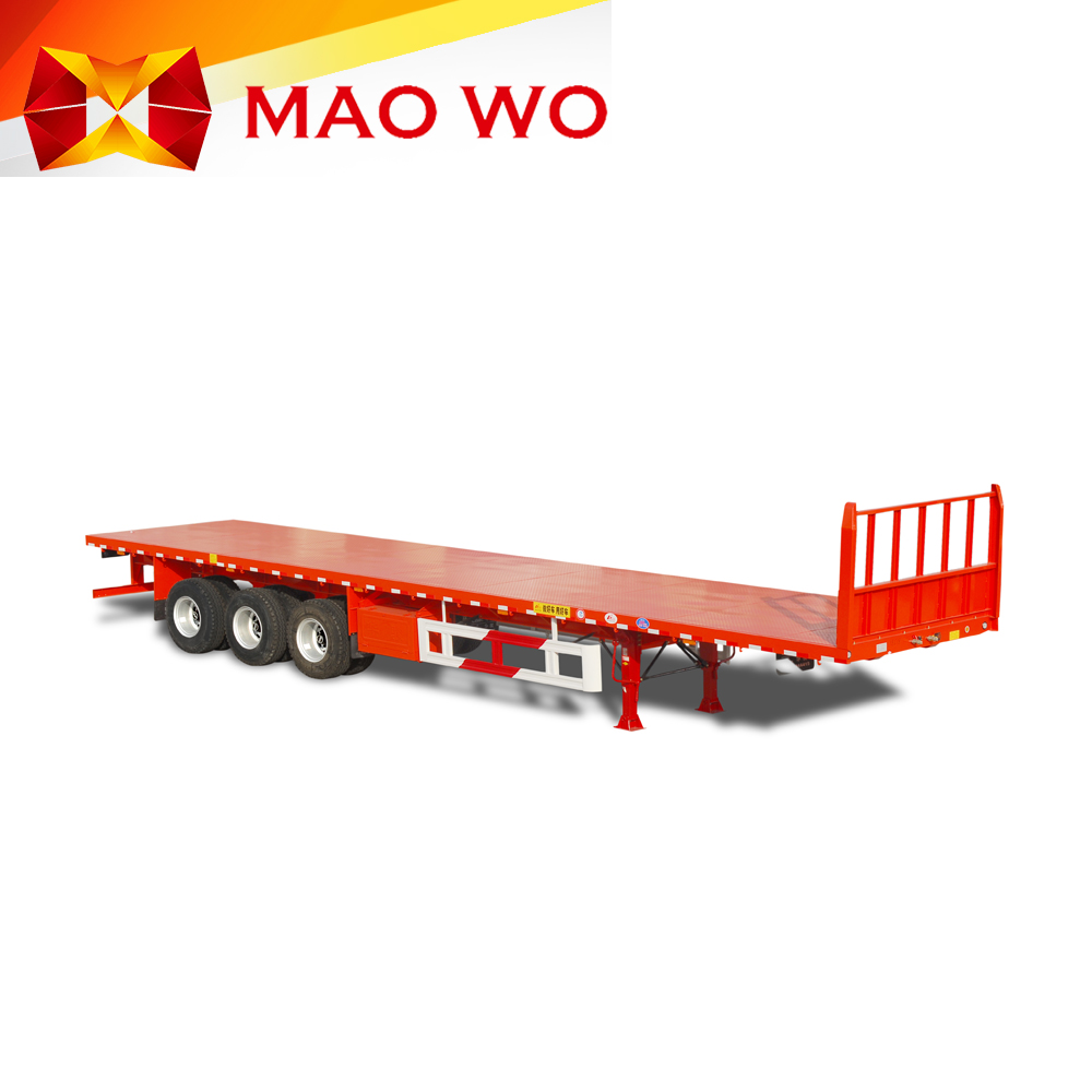 Hot sale 3 axle 40ft flatbed containers truck trailer