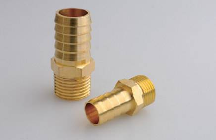 Brass male Hose Barb with Straight Fitting Style, NPT Thread Size