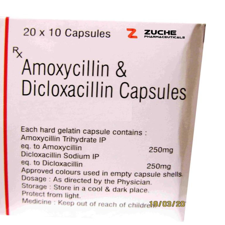 Amoxycillin and Dicloxacillin Capsules