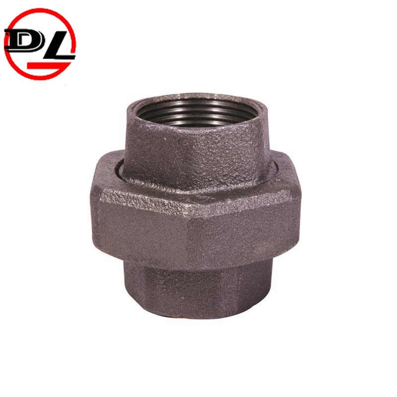 black malleable iron pipe fitting pipe union