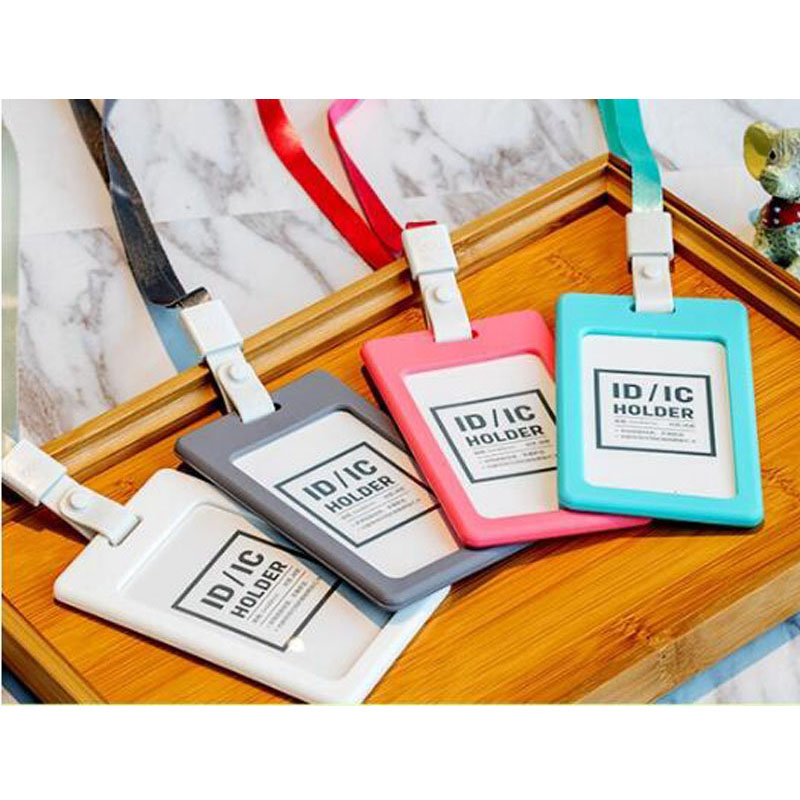 Hot Selling Vertical Silicon ID Card Badge Holder
