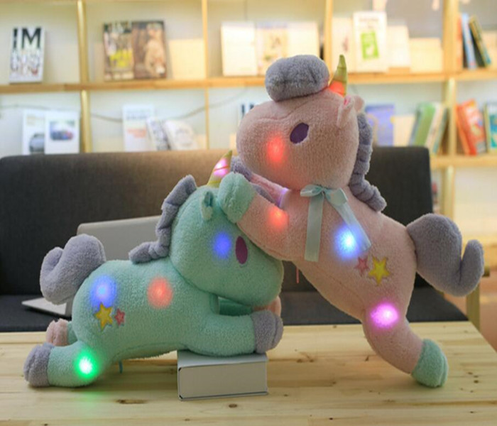 Unicorn Plush Light Toy Wholesale Custom logo stuffed LED Unicorn Toy