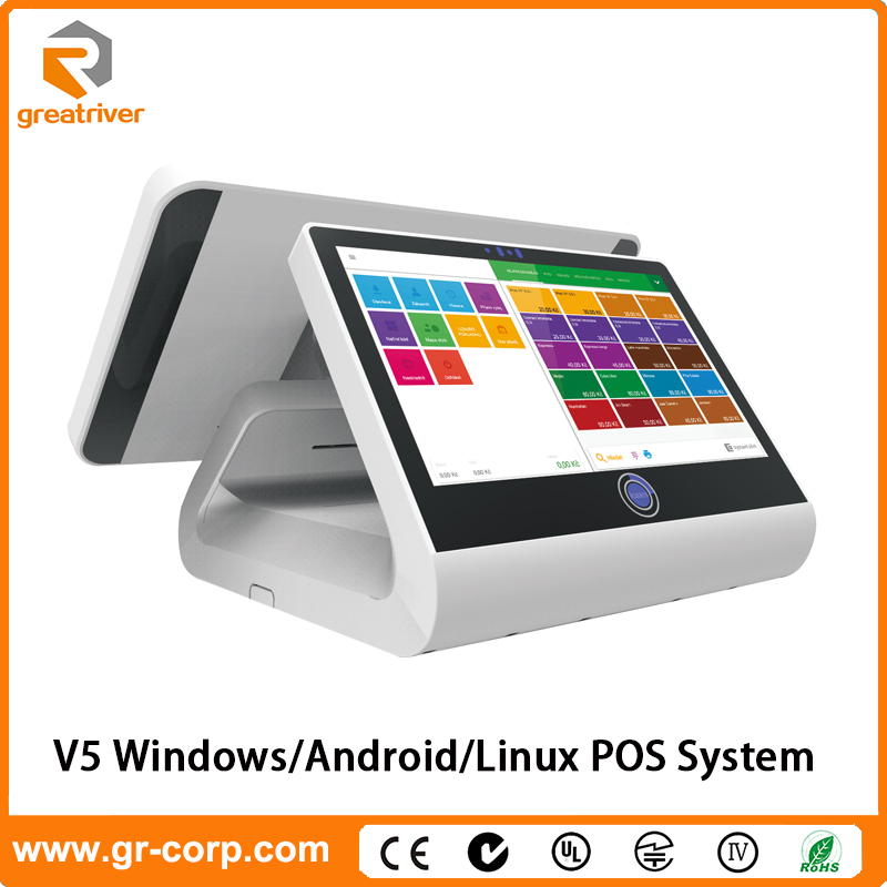 GreatRiver V5 11.6''+12.1'' Capacitive Touch Dual Screen All-in-one Android POS System