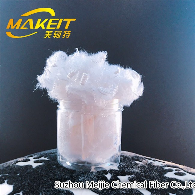Hollow conjugated polyester staple fiber