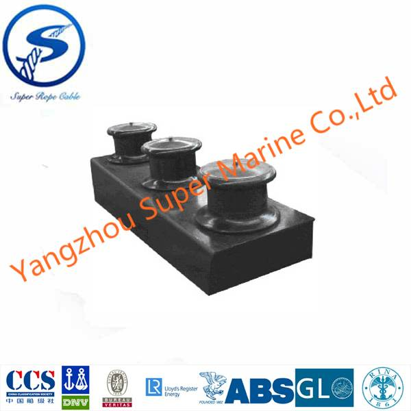 Cast Steel Open Type Three Roller Fairlead with Stand for Ship JIS F2014-1987,Open Type Three Ship R