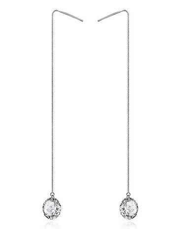 Tear drop crystal drop earrings
