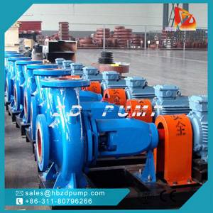 horizontal centrifugal water pump for irrigation or fire fighting