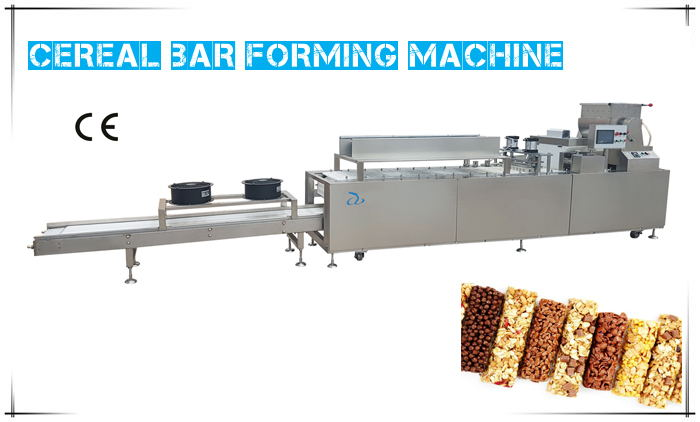 Cereal bar forming cutting machine