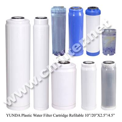 Refillable filter cartridge/drinking water filter