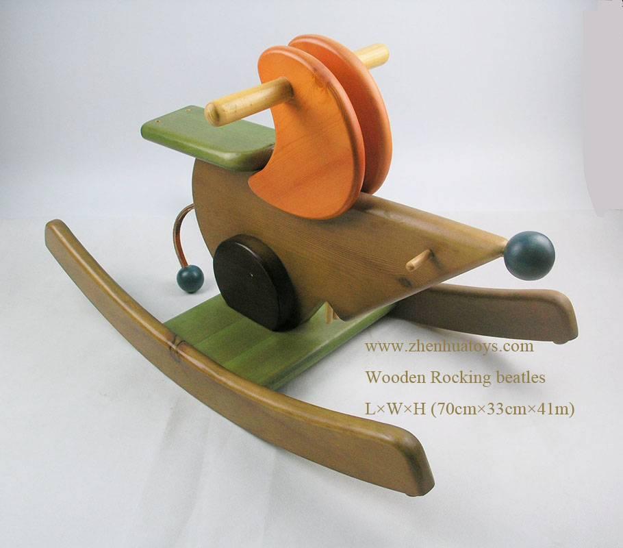 wooden rocking hourse high class in fatisetic design