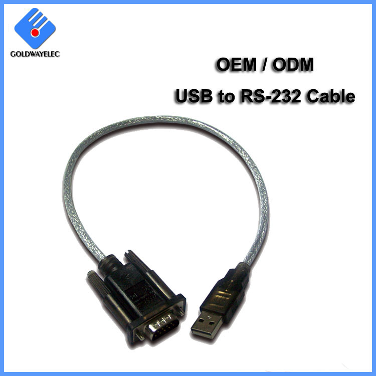 USB 2.0 to RS 232 Serial DB9 Converter Cable