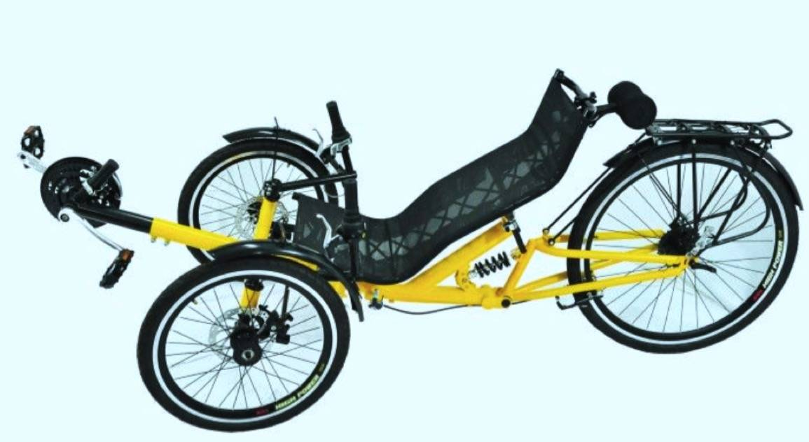 3 wheels new style low price powerful recumbent trike sale frame