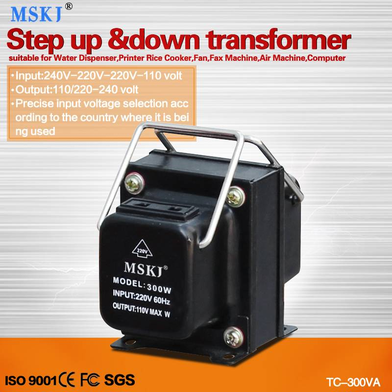 high quality ac 300W step up and down transformers