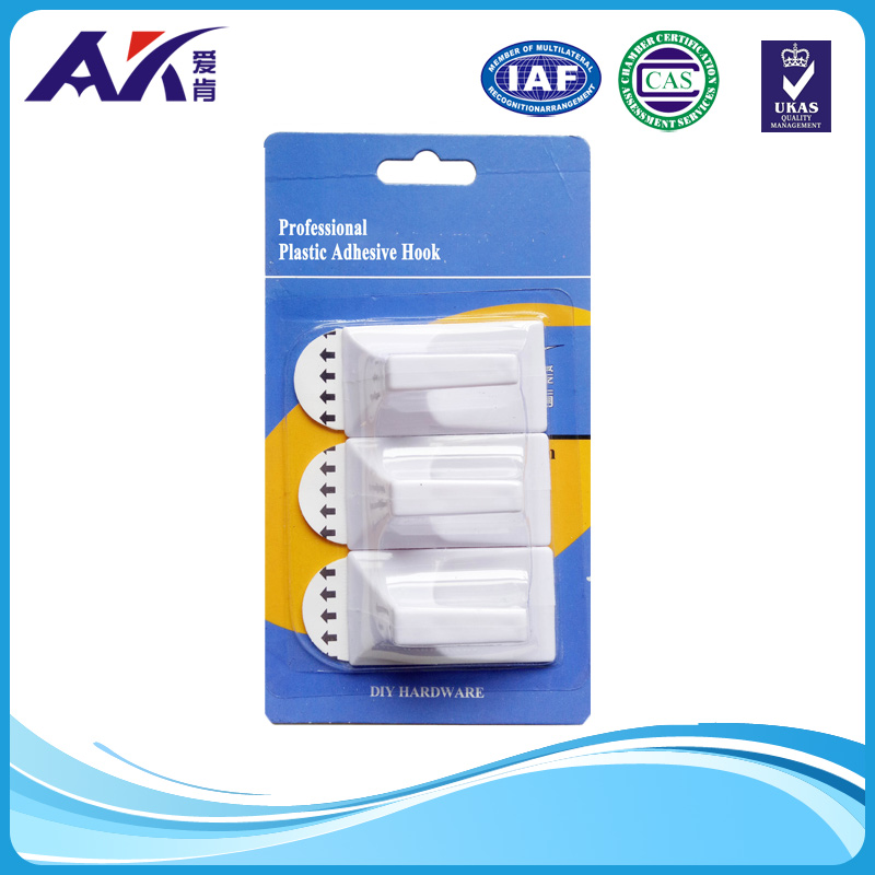 Removable Rubber Adhesive Plastic Hook