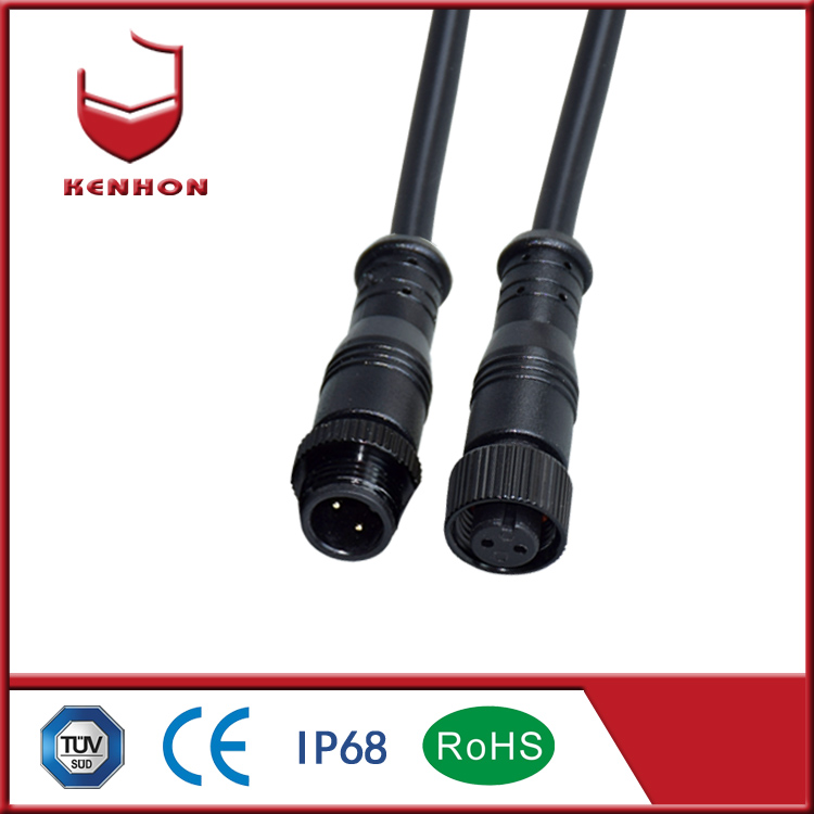 M12 IP67 220v 3 core outdoor waterproof wire cables