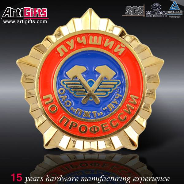 Wholesale promotional medal custom metal souvenir badge