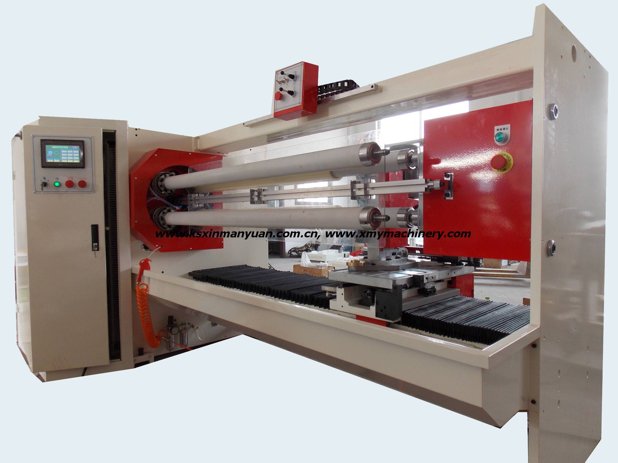 Full automatic four shafts adhesive tape cutting machine for pvc opp double-sided tape (xmy004)