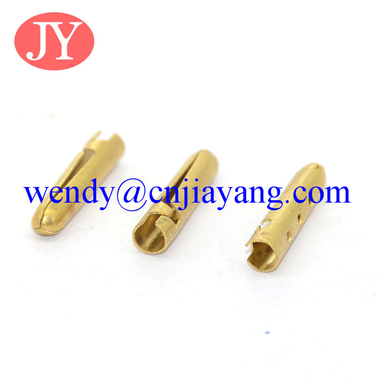 Eco friendly material Brass shoelace tip end tip