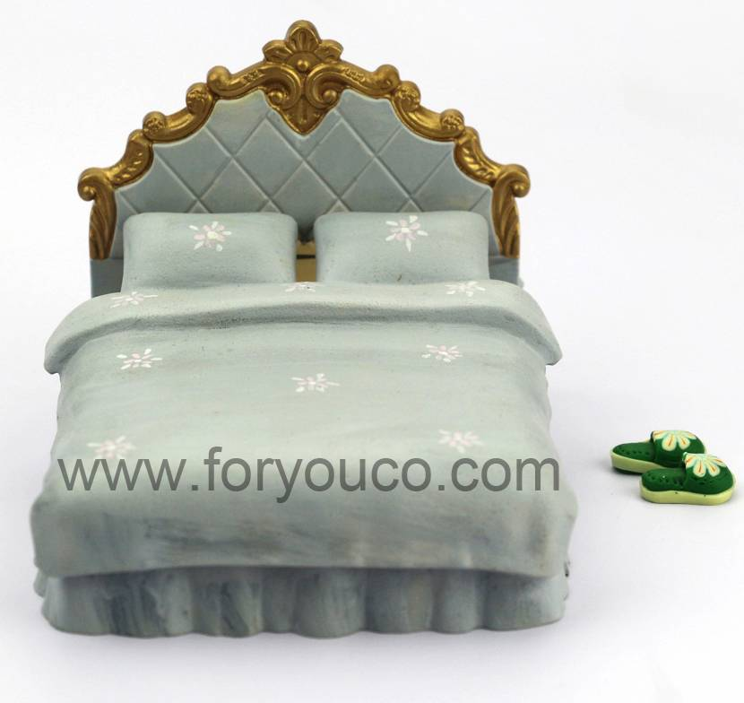 Scale House Model Bed Bedding Model in different Colors