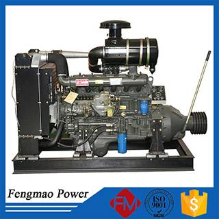 Diesel generator with clutch