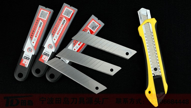 9mm/18mm safety utility knife blade/stainless spare blade