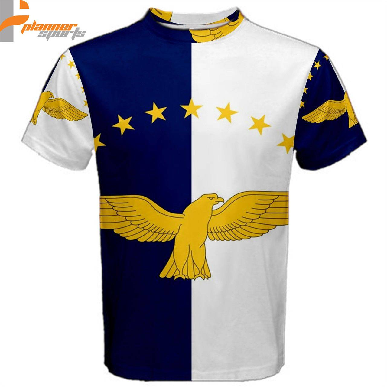 Portugal Flag Azores Flag Sublimated Sublimation T-Shirt 3XL