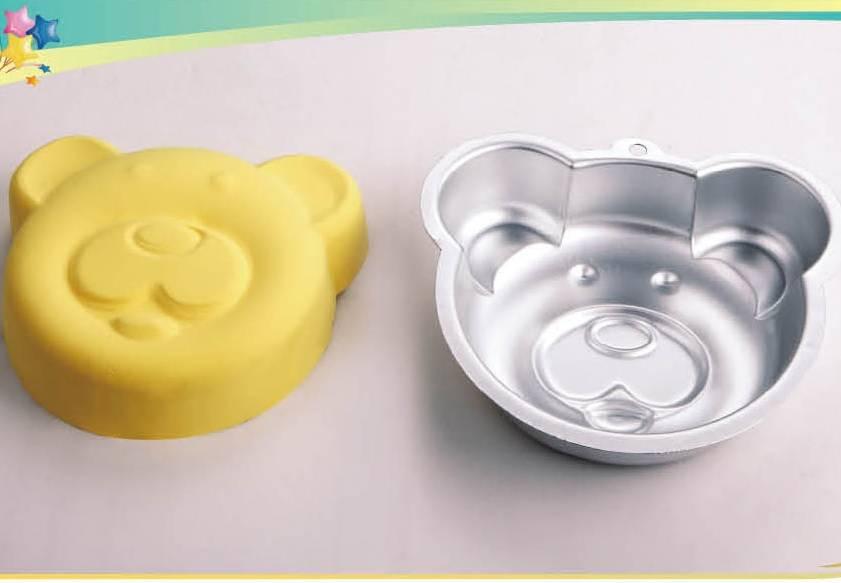 3D Bear Head shape alumimum cake pan/mold