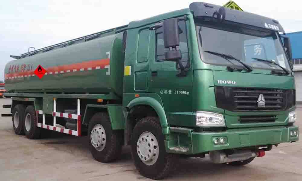 SINO TRUK HOWO 8*4  fuel tanker truck