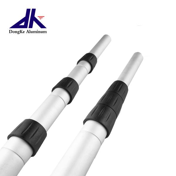Aluminum alloy telescopic pole with twist lock