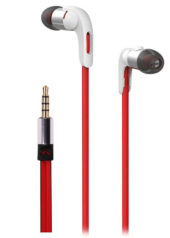 Senmai good quality, metallic stereo in-ear earphone with microphone for smartphone