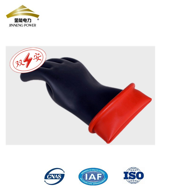 20kv 2class black latex safety gloves for live working