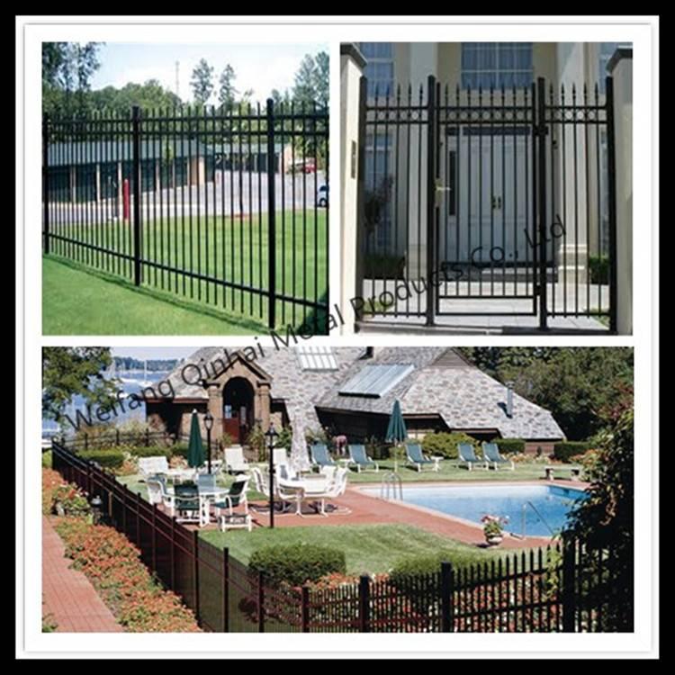 Galvanized Tubular Steel Fence Wall Design