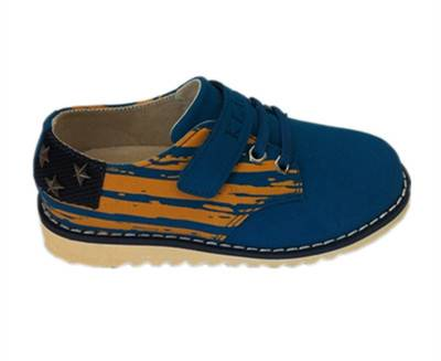 leather rivet oxford shoe