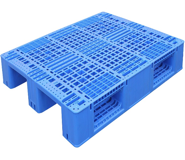 High quality Single Faced Heavy Duty Pallet Steel Reinforced Rack Plastic hdpe pallet