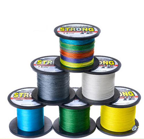 1000m multicolor 10lb-70lb 4X Line Extreme Strong PE Multifilament Braided Fishing Line
