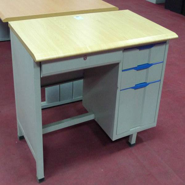 Office desk school office furniture cabinet wooden top 3 drawer with lock