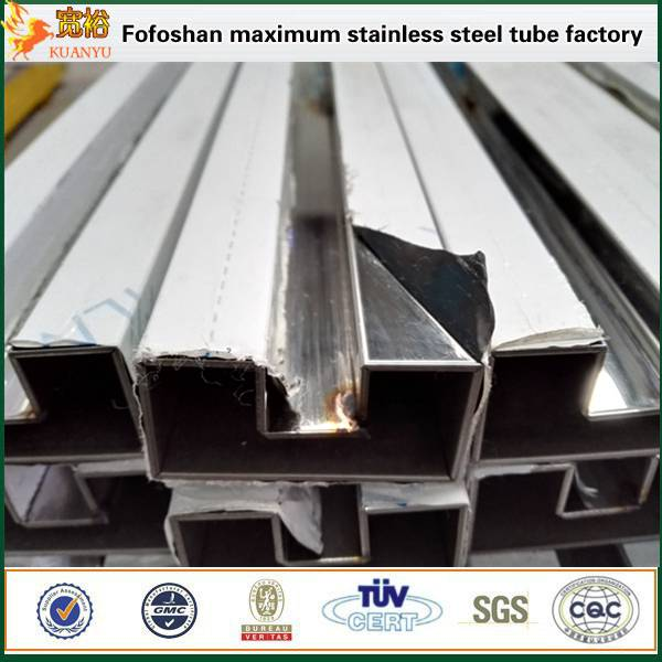 TP304L stainless steel ss flat single slot pipes for glass profile tubes