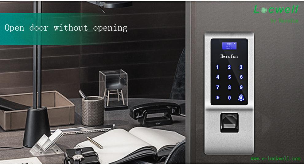 Digital Code Fingerprint Glass Door Lock with Many Lock ways