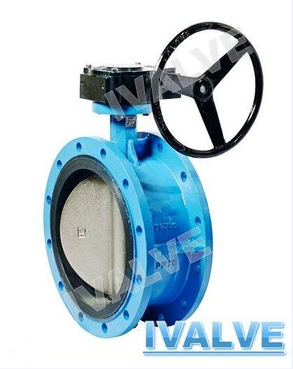 double flanged concentric butterfly valve DIN/BS/AWWA