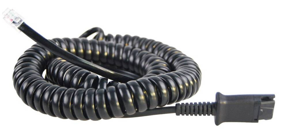 RJ9 Coiled Headset Connecting Cord for Cisco IP Phones