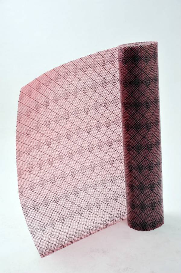 Conductive Film with red Grid rolls