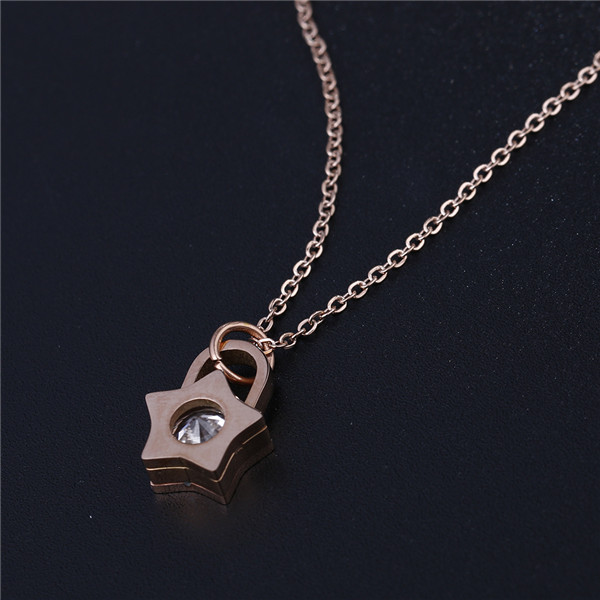 18K Rose Gold Plated Necklaces Star Pendant